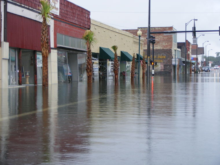Flooding in Live Oak from Tropical Storm Debby (2012). Source: Suwannee County Democrat