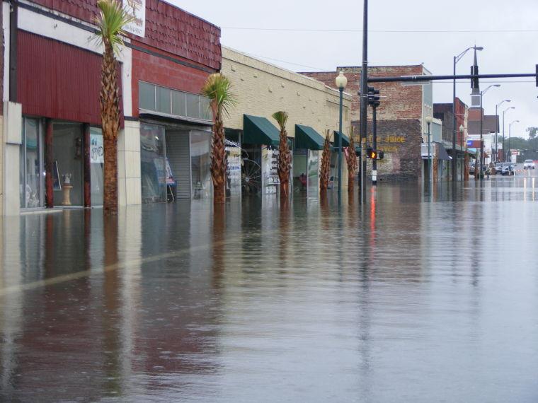 Inundaciones en Live Oak por la tormenta tropical Debby (2012). Fuente: demócrata del condado de Suwannee